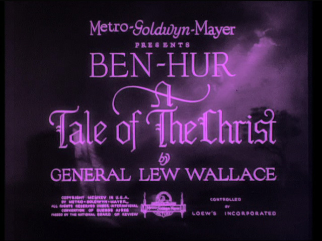 Ben-Hur: A Tale of the Christ 1925 movie title
