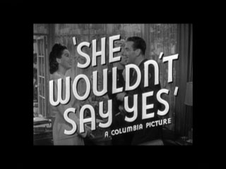 She wouldn't say yes trailer title