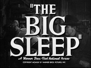 The big sleep trailer title