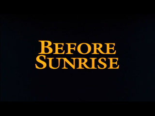 Before sunrise (1995) movie typography
