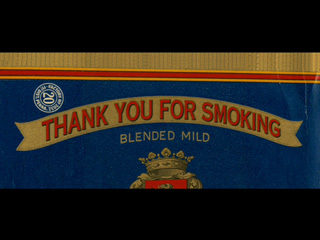 Thank you for smoking movie title